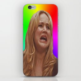 Jennifer Lawrence Rainbow Derp iPhone Skin