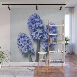 Three Blue Hyacinths Wall Mural