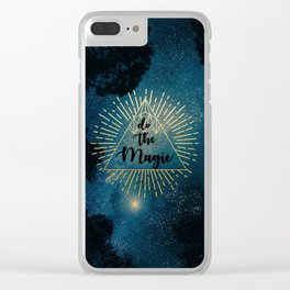 Do the Magic (Night Sky) Clear iPhone Case