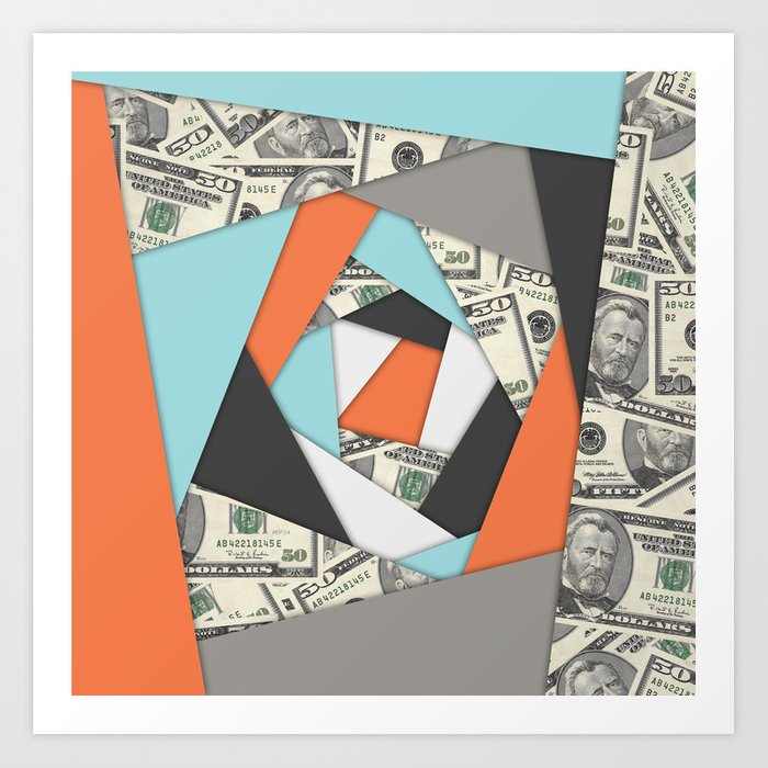 Layered Money Art Print