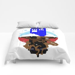 Upside Down Time Travel Comforters