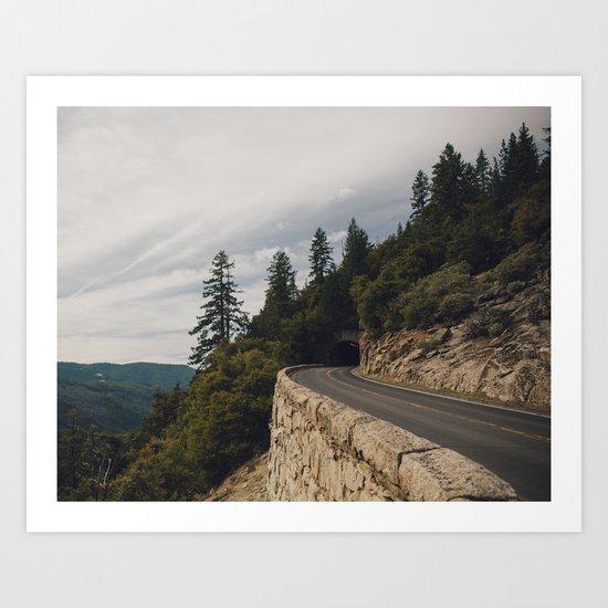 Yosemite Tunnel  Art Print