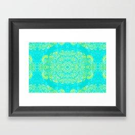 Thinking - 2 colour zest Framed Art Print