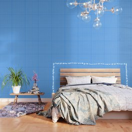 Blue Grid Pattern Wallpaper
