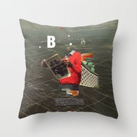 butterfly Throw Pillows featuring Butterfly by Frank Moth