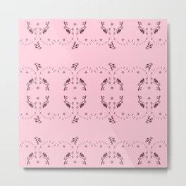 Pink Partridges Pink Pears Metal Print