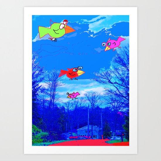 Happy Bird Day! Art Print