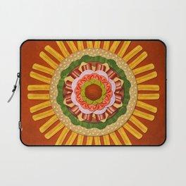 Bacon Cheeseburger with Fries Mandala Laptop Sleeve