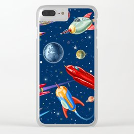 rockets in traffic Clear iPhone Case