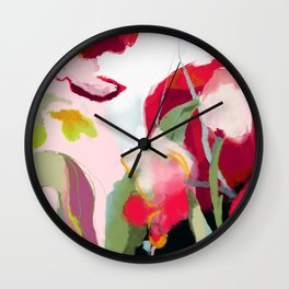 abstract bloom Wall Clock