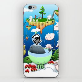 Some pigs fly in the rain iPhone Skin