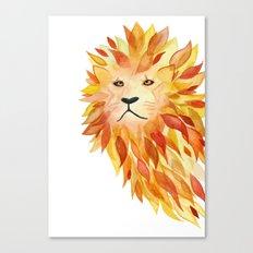 Fire lion Canvas Print