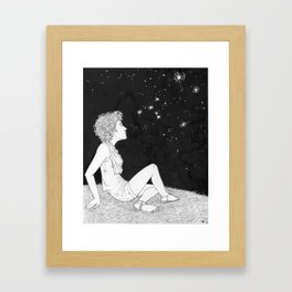 They Just Blink at Us (Sirius) Framed Art Print