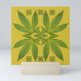 Marijuana Leaf Pattern Mini Art Print
