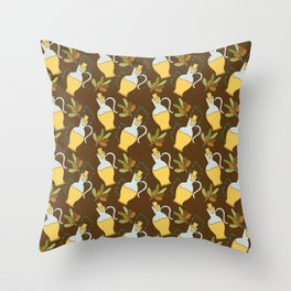 Oil olive Throw Pillow