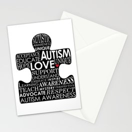 Autism Awareness Love Stationery Cards