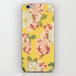 Flora temptation - sunny mustard iPhone Skin