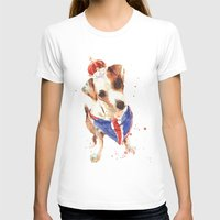jack russell T-shirts featuring LONDON - Jack Russell Art - Union Jack by eastwitching