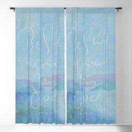 Be Still - Psalm 46:10 / Ocean Blackout Curtain