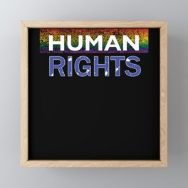 Human Rights Framed Mini Art Print