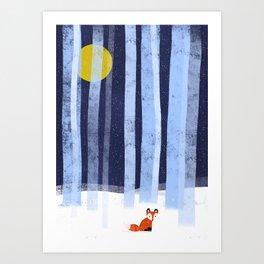 The Lonely Fox Art Print