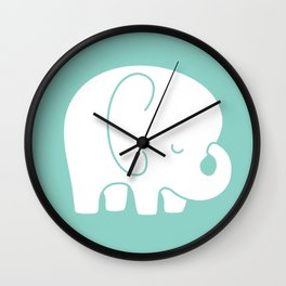 Mod Baby Elephant Teal Wall Clock