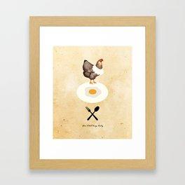Don't Eat My Baby. Framed Art Print