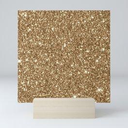 Sparkling Glitter Print H Mini Art Print