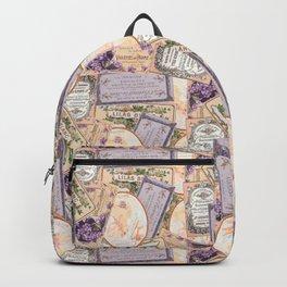 Vintage Labels in Purple + Peach Backpack