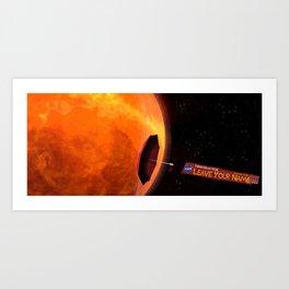 Parker Solar Probe Art Print