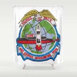 USS GEORGE WASHINGTON (SSBN-598) PATCH Shower Curtain