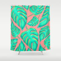 palms Shower Curtains featuring Palms by Anika Kirk