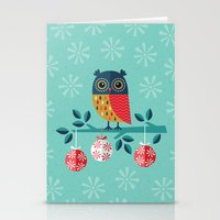 marina and the diamonds Stationery Cards featuring WOOHOO IT'S CHRISTMAS! by Daisy Beatrice