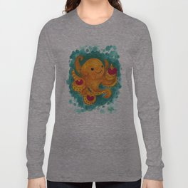Octopus with Three Hearts Long Sleeve T-shirt