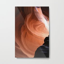 Antelope Canyon Reddish And Blue Tones Metal Print