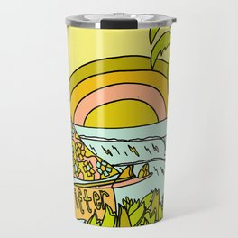 drifting to paradise surf art by surfy birdy Travel Mug