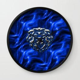 Lion Plasma Blue Wall Clock