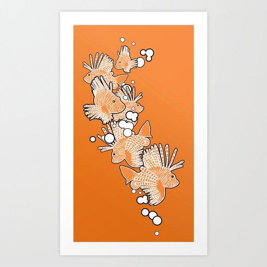 Scorpio fish Art Print