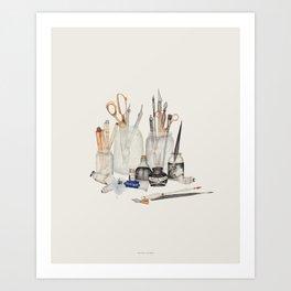 Art Supplies Art Print