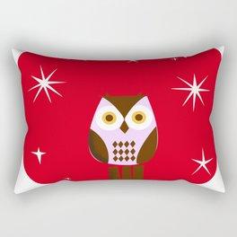 Owl ( alternative red version) Rectangular Pillow