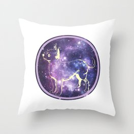Space Chihuahua Throw Pillow
