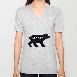 Mama Bear in Black Unisex V-Neck