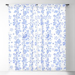 Chinoiserie Calico Blackout Curtain