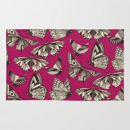 summer butterflies pink Rug