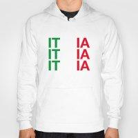 italy Hoodies featuring ITALY by eyesblau