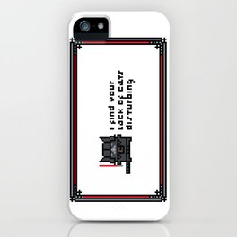 I find your lack of cats disturbing iPhone Case