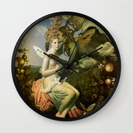 """The body, the soul and the garden of love"" Wall Clock"