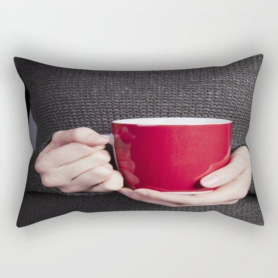 Red Mug Rectangular Pillow