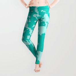 Blue Green Abstract Leggings