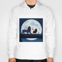 hakuna Hoodies featuring Lion King Stylish Painting by Bolin Cradley Art